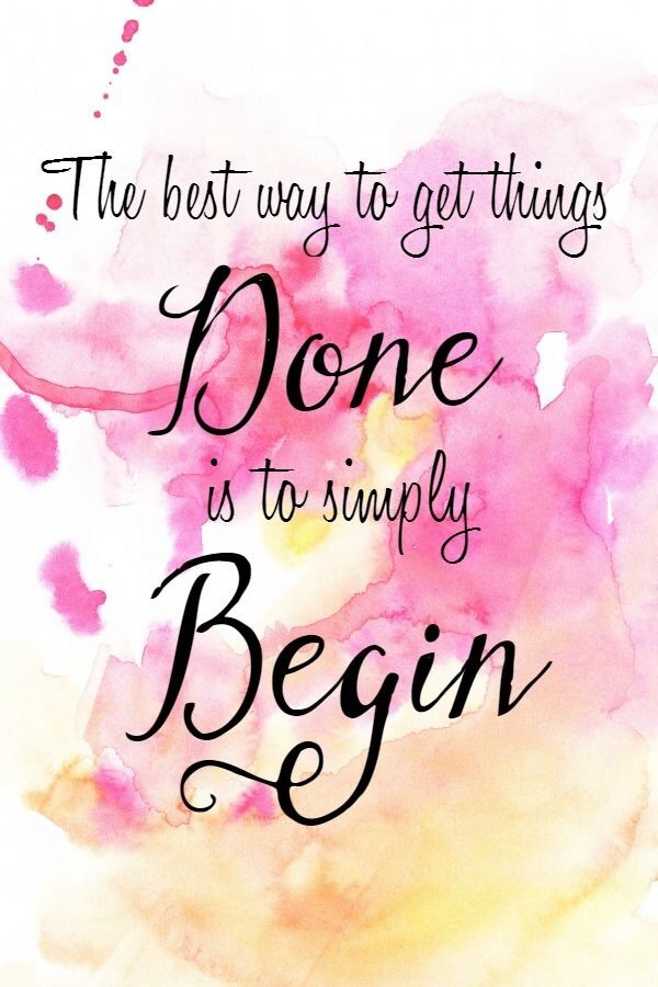 We often procrastinate in completing what we believe to be an overwhelming task, only to realize that the beginning was the hardest part