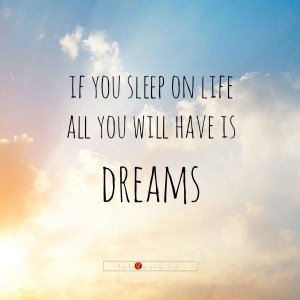 Wake up. The alarm clock is going off.  No more hitting the snooze button.  A little planning plus alot of effort will turn those dreams into reality.